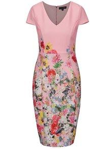 Ružové šaty s kvetovaným vzorom Dorothy Perkins