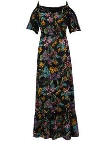 Čierne maxišaty s kvetovaným vzorom Dorothy Perkins