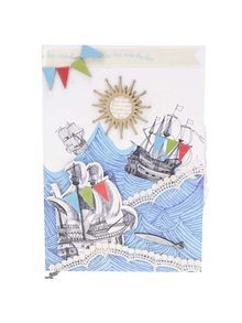 Deník s plastickým motivem moře Disaster Sea Breeze
