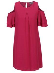 Růžové šaty s průstřihy na ramenou Dorothy Perkins Petite