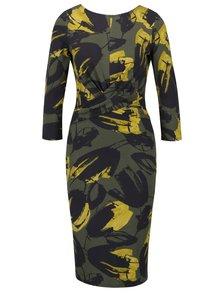 Žlto-zelené puzdrové šaty Dorothy Perkins