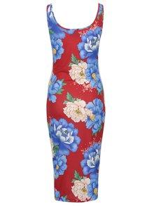 Rochie roșie adidas Originals cu model floral