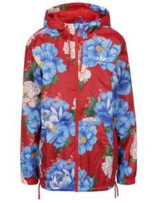 Jachetă roșie adidas Originals cu model floral