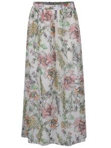 Krémová kvetinová maxisukňa Dorothy Perkins Petite