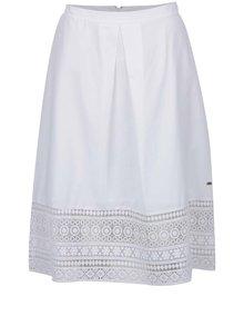 Biela sukňa s čipkovanými detailmi Tommy Hilfiger