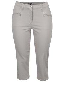 Béžové zkrácené kalhoty Ulla Popken