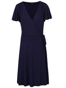 Tmavě modré šaty s překládaným výstřihem Dorothy Perkins Tall