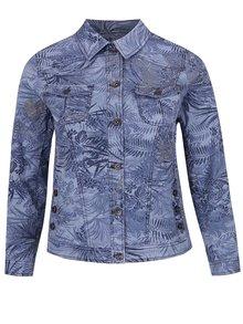 Jachetă albastră Ulla Popken cu model floral