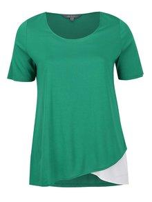 Krémovo-zelené tričko krátkým rukávem Ulla Popken