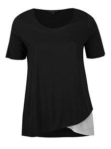 Krémovo-černé tričko krátkým rukávem Ulla Popken