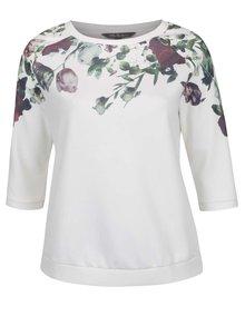 Bluză crem Ulla Popken cu mâneci trei sferturi