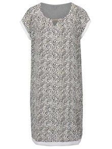 Krémové vzorované šaty Gina Laura