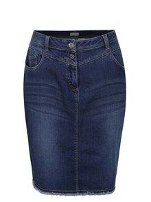 Modrá džínová sukně s roztřepeným lemem Gina Laura