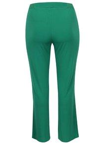 Zelené elastické nohavice s pružným pásom Ulla Popken