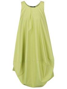 Svetlozelené voľné balónové šaty s vreckami Bianca Popp