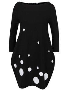 Bílo-černé šaty s lodičkovým výstřihem Mikela da Luka