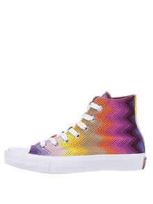 Teniși albi Converse All Star II cu model multicolor
