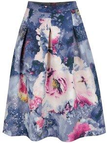 Rochie midi albastru&roz Closet cu imprimeu floral