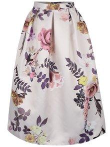 Krémová kvetovaná skladaná sukňa Closet