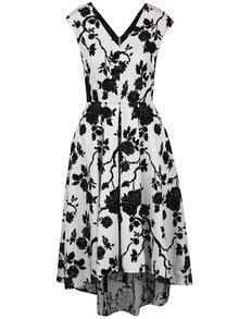 Krémové kvetované šaty s predĺženým zadným dielom Closet