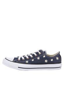 Teniși albastru închis Converse cu broderie florală