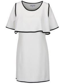 Krémové voľné šaty s čiernymi lemami THAÏS & STRÖE