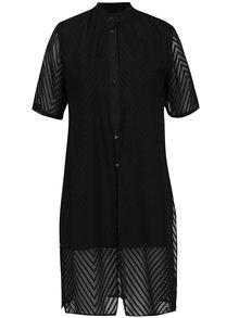 Rochie cămașă din dantelă neagră THAIS & STROE