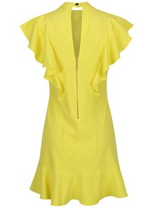 Rochie galbenă Closet cu volane ample