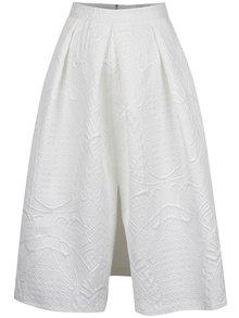 Krémová sukně s jemným plastickým vzorem Closet