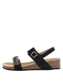 Černé dámské semišové zdravotní sandály Scholl Evelyne