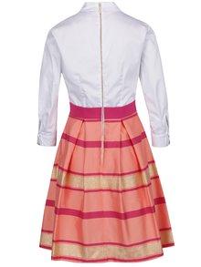 Rochie alb& roz Closet cu aspect 2 în 1