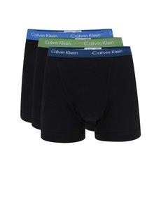 Sada tří boxerek v černé barvě s barevnými lemy Calvin Klein