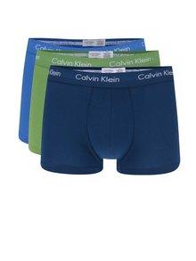 Sada tří boxerek v modré a zelené barvě Calvin Klein