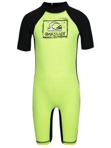 Costum de surf negru&galben Quiksilver Bubble Spring pentru băieți