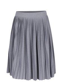 Modrosivá melírovaná plisovaná sukňa VERO MODA Molly