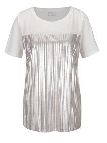 Tricou alb & argintiu VILA Shaky