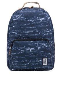 Tmavě modrý unisex vzorovaný batoh The Pack Society 18 l