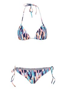 Modré dvojdielne vzorované plavky Roxy Sporty