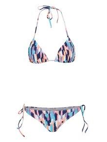 Modré dámské  dvoudílné vzorované plavky Roxy Sporty