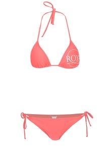 Oranžové dámské dvoudílné plavky s potiskem Roxy Mix