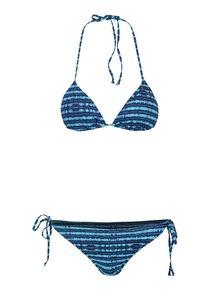 Costum de baie din 2 piese albastru & turcoaz Roxy Pop cu model în dungi