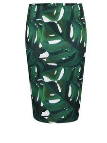 Krémovo-zelená sukňa s tropickým vzorom Dorothy Perkins Petite