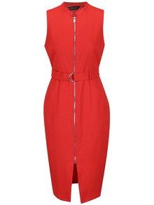 Červené šaty so zipsom Dorothy Perkins