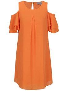 Oranžové šaty s prestrihmi na ramenách Dorothy Perkins Petite