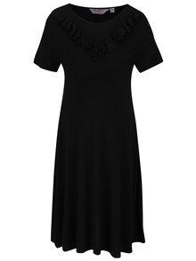 Černé těhotenské šaty s volánem Dorothy Perkins Maternity
