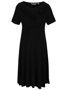 Čierne tehotenské šaty s volánom Dorothy Perkins Maternity