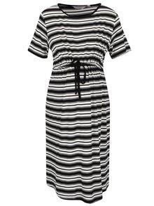 Krémovo-černé těhotenské pruhované šaty Dorothy Perkins Maternity