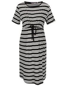 Krémovo-čierne tehotenské pruhované šaty Dorothy Perkins Maternity