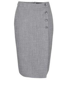 Sivá sukňa s gombíkmi Dorothy Perkins