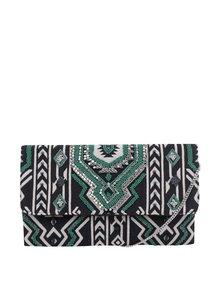 Geantă crossbody negru& verde Pieces Kalani cu model cu mărgele